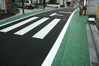 緑の路側帯